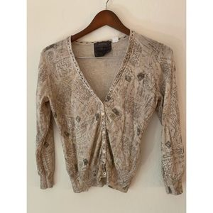 Anthropologie Wish You Were Here Sweater size s